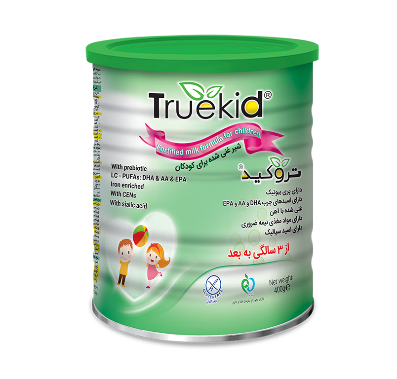 Truekid contains sialic acid, prebiotics, AA and DHA. It is high in vitamins A, C, D, E and B vitamins such as folic acid